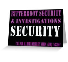 Security in Black Greeting Card