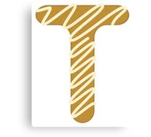 Candy Letter Series - Letter T (uppercase) Canvas Print