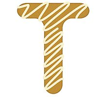 Candy Letter Series - Letter T (uppercase) Photographic Print