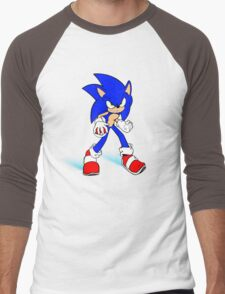Sonic : Super Fast Pokemon Trainer Men's Baseball ¾ T-Shirt