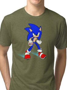 Sonic : Super Fast Pokemon Trainer Tri-blend T-Shirt