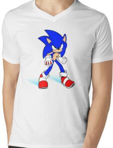 Sonic : Super Fast Pokemon Trainer Mens V-Neck T-Shirt