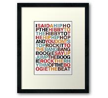 Rapper's Delight - Sugarhill Gang Framed Print