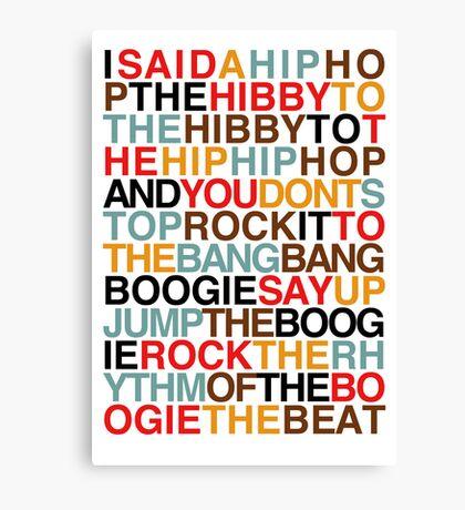 Rapper's Delight - Sugarhill Gang Canvas Print
