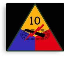 10th Armored 'Tiger' Division (United States Army - Historical) Canvas Print