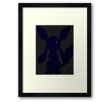pokemon eevee glaceon anime manga shirt Framed Print