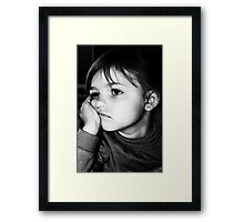 It's Hard Being A Child Sometimes Framed Print