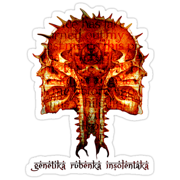 genetika rubenka insolentaka sticker by mark tizard