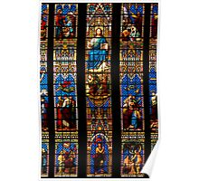 Stained Glass Window - Chichester Cathedral Poster