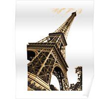 Skewed Eiffel Tower Poster