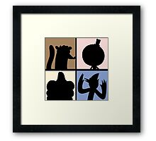 Cartoon Characters  Framed Print