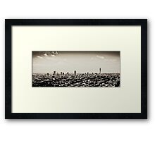 Johannesburg East with CBD in Background Framed Print