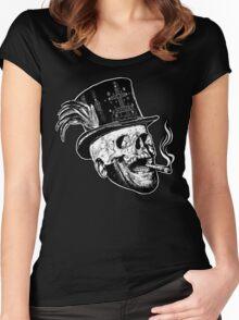 Baron Samedi (B&W variant) Women's Fitted Scoop T-Shirt