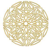 clean golden mandala - OneMandalaAday Photographic Print