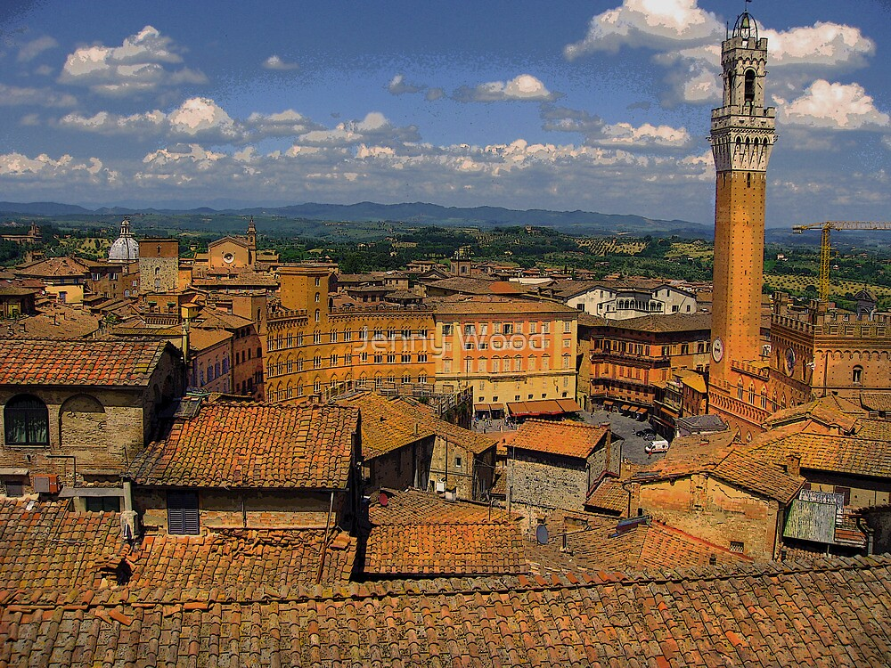 Tuscan rooftops by Jenny Wood