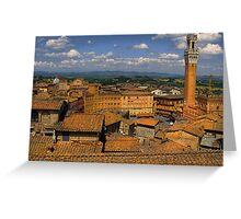 Tuscan rooftops Greeting Card