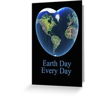 I love my earth Greeting Card