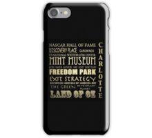 Charlotte North Carolina Famous Landmarks iPhone Case/Skin