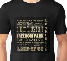Charlotte North Carolina Famous Landmarks Unisex T-Shirt