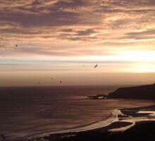 Heritage coastline sunrise Sticker