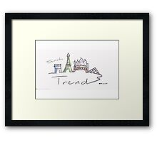 The French Trend Paris  Framed Print