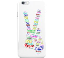 Peace Across the World iPhone Case/Skin