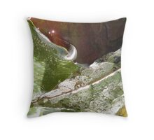 dripping leaves Throw Pillow