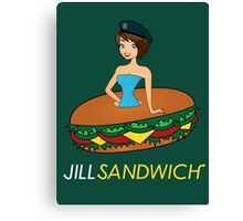 Jill sandwich Canvas Print