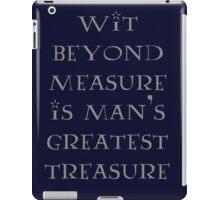 Wit Beyond Measure iPad Case/Skin