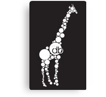 Branded Bubble Giraffe Canvas Print