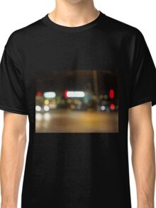 Abstract night scene on the night the traffic Classic T-Shirt
