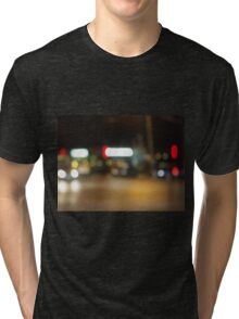 Abstract night scene on the night the traffic Tri-blend T-Shirt