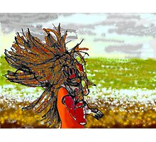 Windy day at the beach Photographic Print