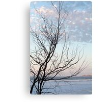 Seaside Silhouette Canvas Print