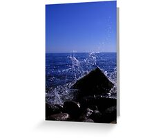 Sea crashes against the land Greeting Card