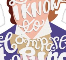 Willy Wonka And The Chocolate Factory Inspired Typography Sticker