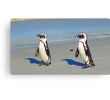 The march of the penguins! Canvas Print