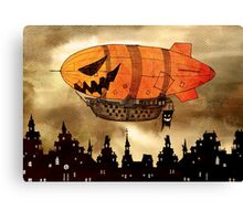 Jack o'lantern Pumkin Airship Canvas Print