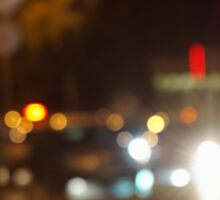 Blur and defocused lights from the headlights of cars Sticker