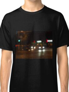 Blur and defocused lights from the headlights Classic T-Shirt