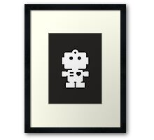 Robot - black & white Framed Print