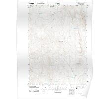USGS Topo Map Oregon Three Fingers Rock 20110901 TM Poster