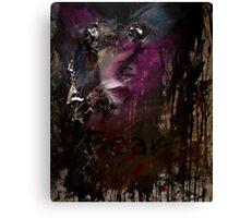 Self Portait 06 - Fear & Anger Canvas Print