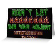 Halloween Security Greeting Card