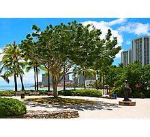 Waikiki Beach, Honolulu Oahu - HAWAII Photographic Print