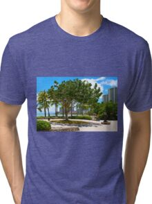 Waikiki Beach, Honolulu Oahu - HAWAII Tri-blend T-Shirt