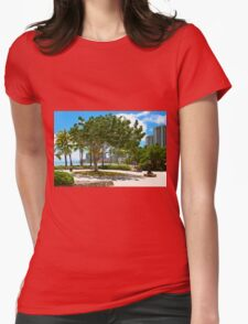 Waikiki Beach, Honolulu Oahu - HAWAII Womens Fitted T-Shirt