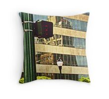 Reflecting On Building Throw Pillow