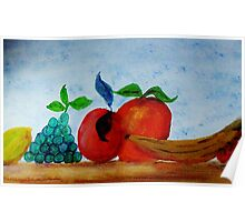Table of Fruit #2 series, watercolor Poster