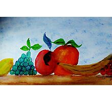 Table of Fruit #2 series, watercolor Photographic Print